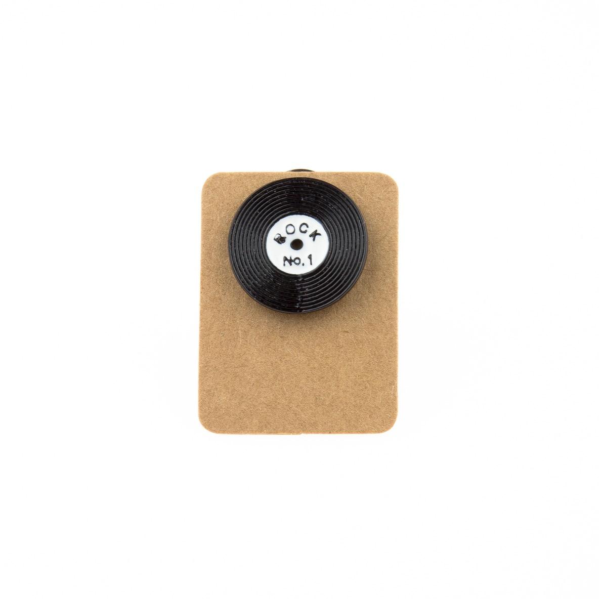 Metal Vinyl Rock No:1 Enamel Pin Badge