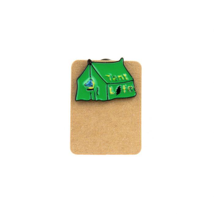 Metal Tent Life Enamel Pin Badge
