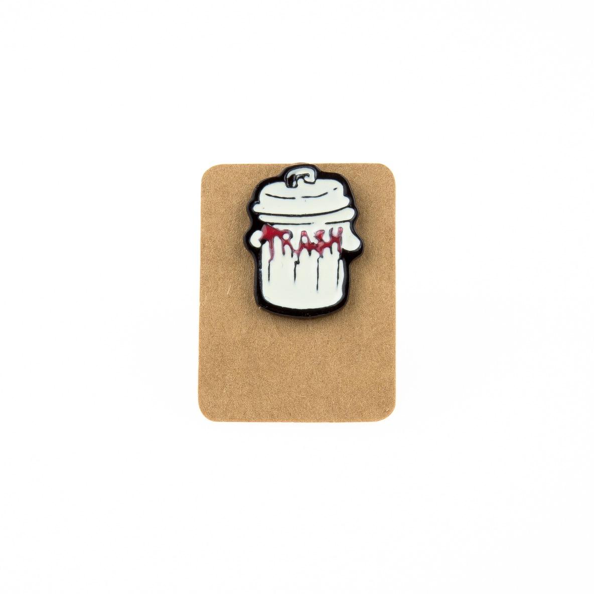 Metal Trash Enamel Pin Badge