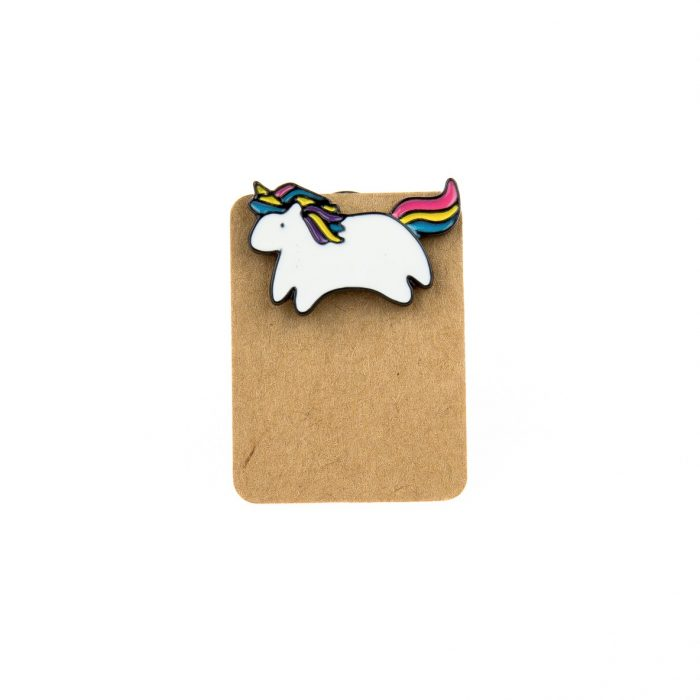 Metal Unicorn Rainbow Enamel Pin Badge