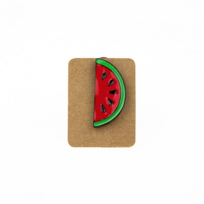 Metal Watermelon Enamel Pin Badge