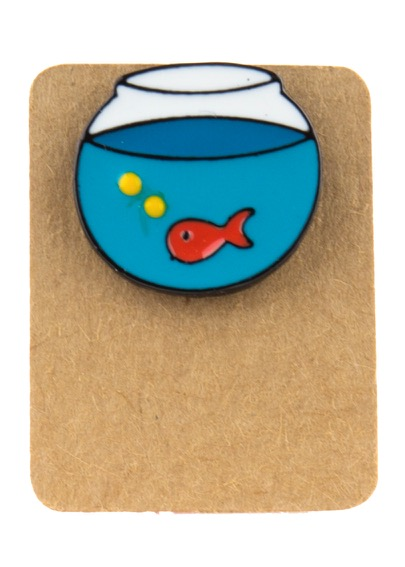 Metal Aquarium Enamel Pin Badge
