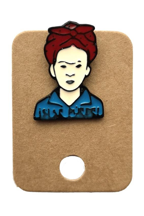 Metal We Can Do It Frida Enamel Pin Badge