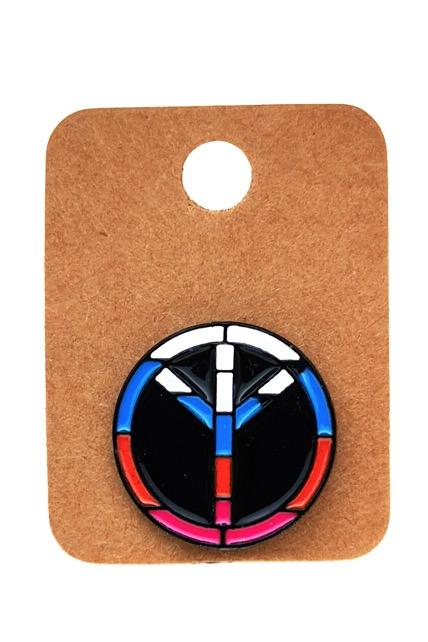 Metal Peace Enamel Pin Badge