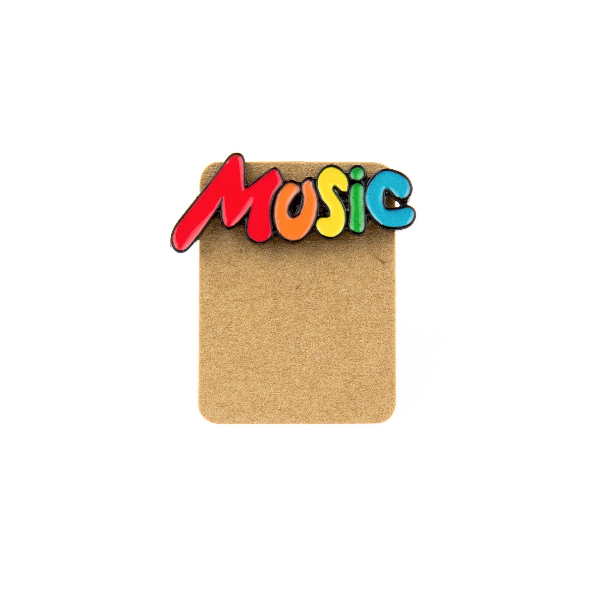 Metal Music Rainbow Enamel Pin Badge