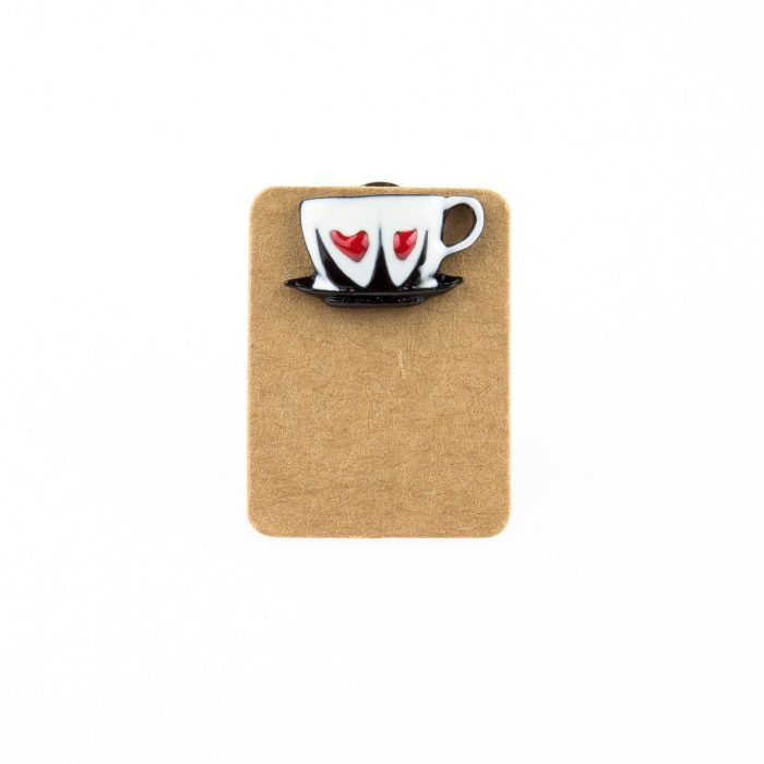Metal Cup Heart Enamel Pin Badge