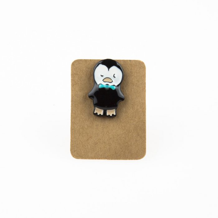 Metal Penguin Bowtie Enamel Pin Badge