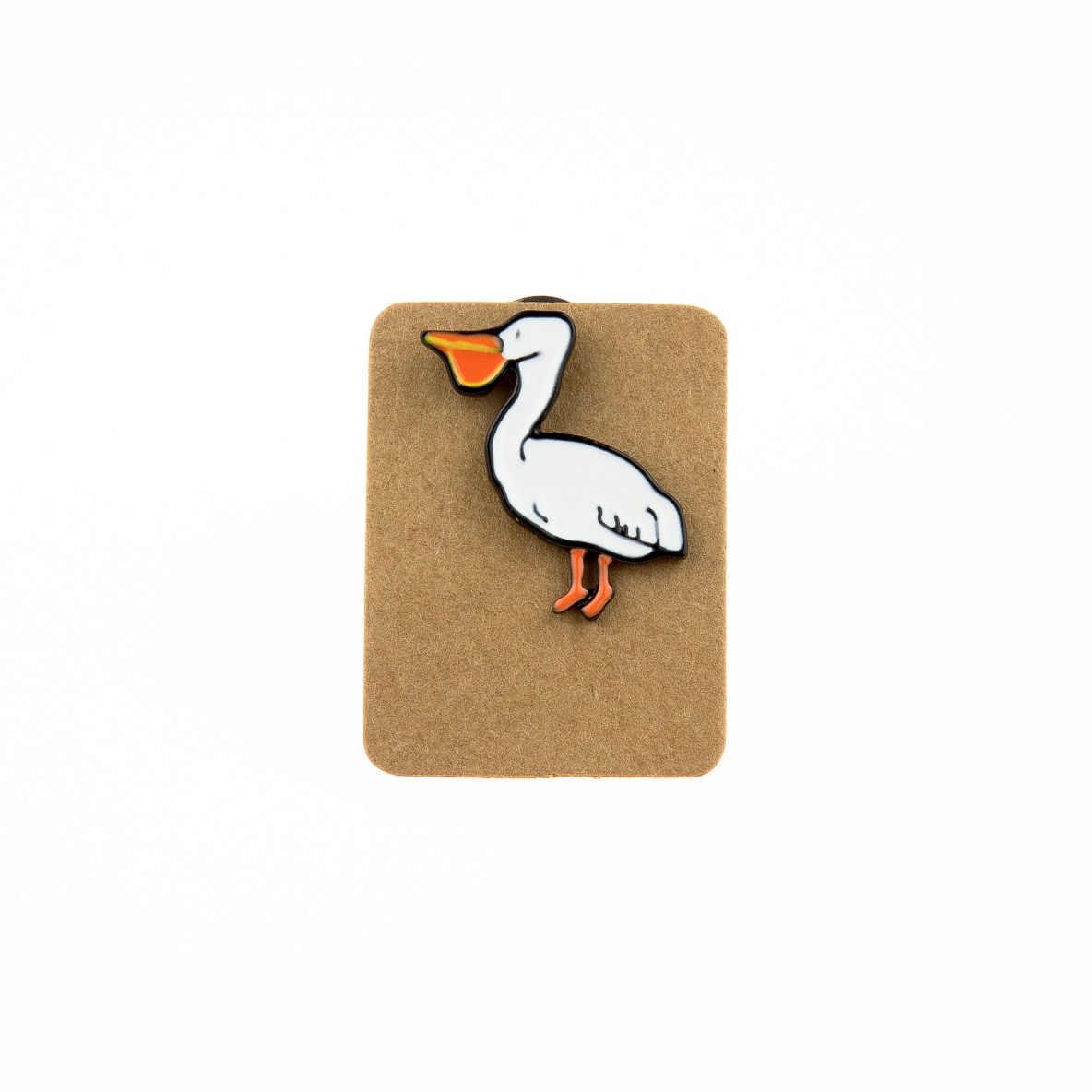 Metal Pelican Enamel Pin Badge
