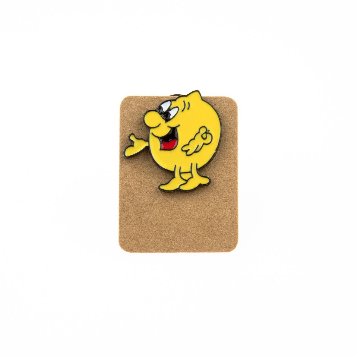 Metal Lemon Man Enamel Pin Badge