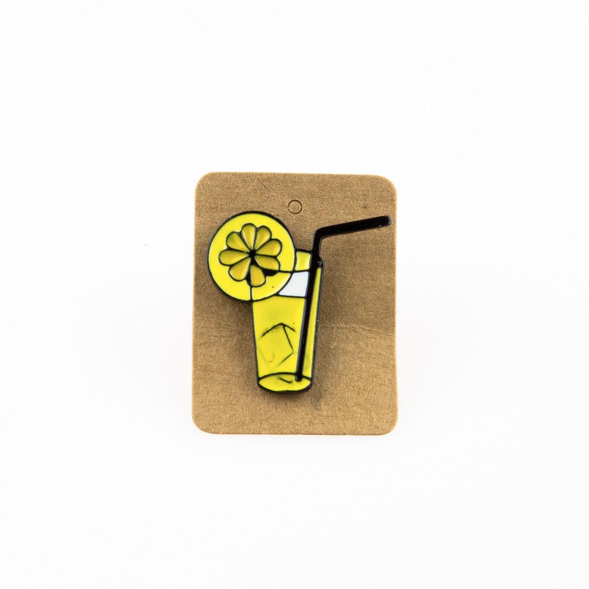 Metal Lemonade Enamel Pin Badge