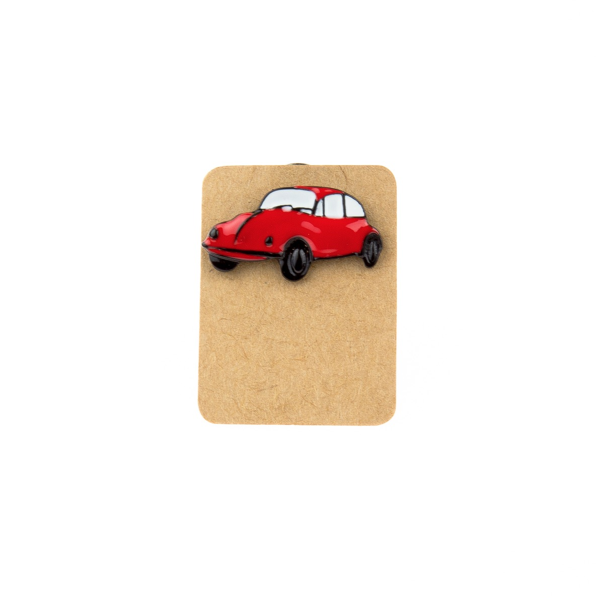 Metal Red Beetle Enamel Pin Badge