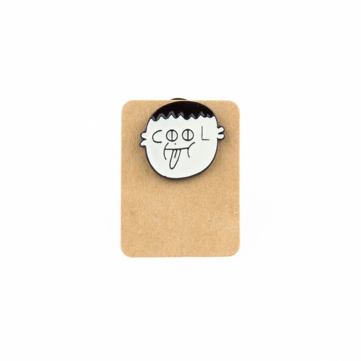 Metal Cool Face Enamel Pin Badge