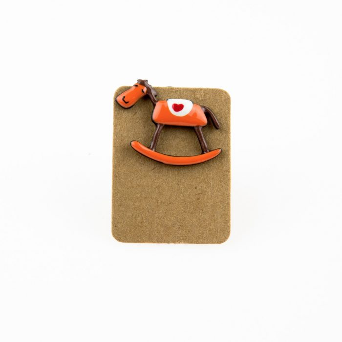 Metal Horse Toy Enamel Pin Badge