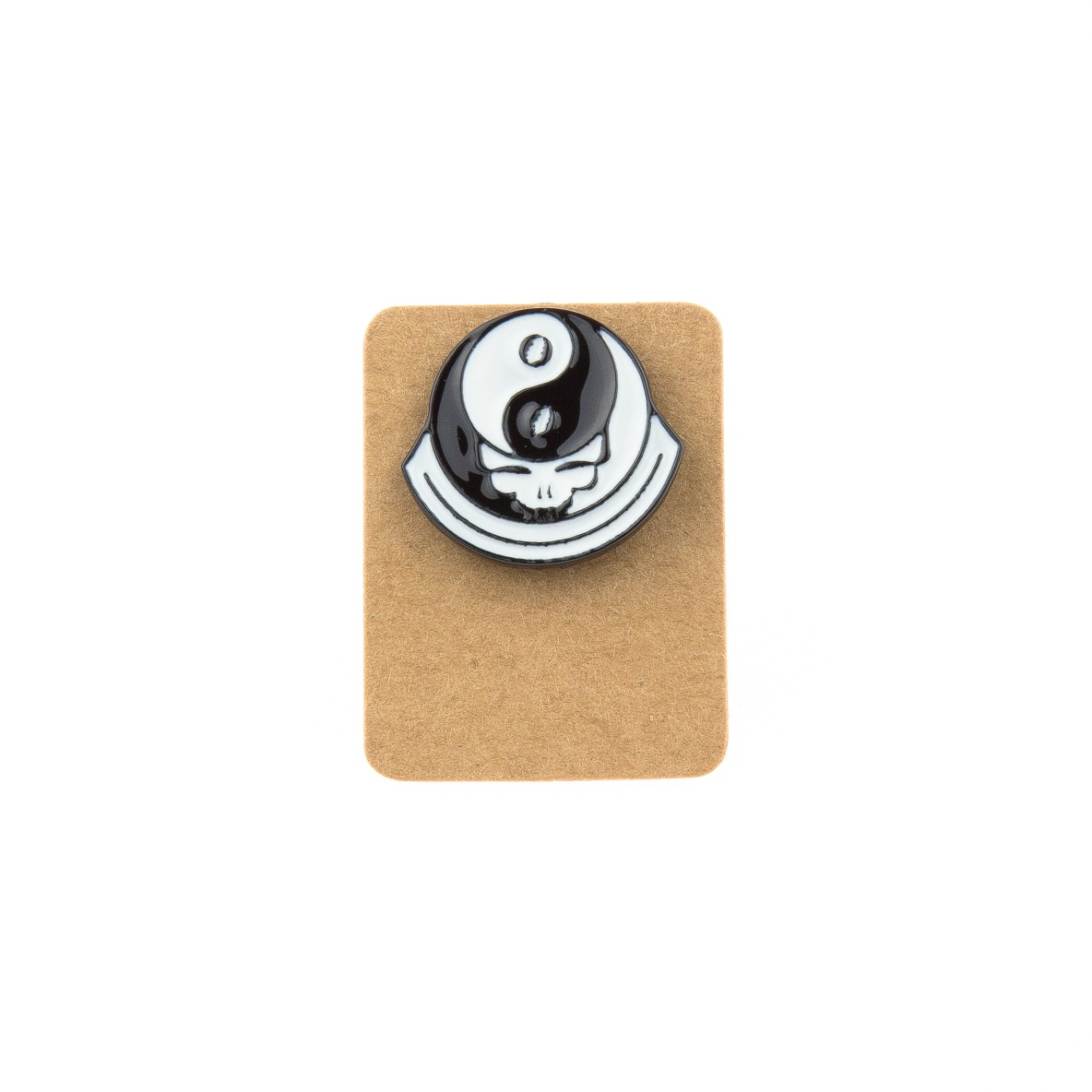 Metal Yin Yang Skull Enamel Pin Badge