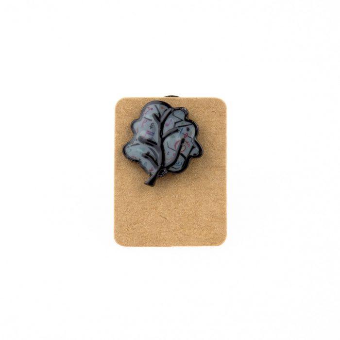 Metal Music Tree Enamel Pin Badge