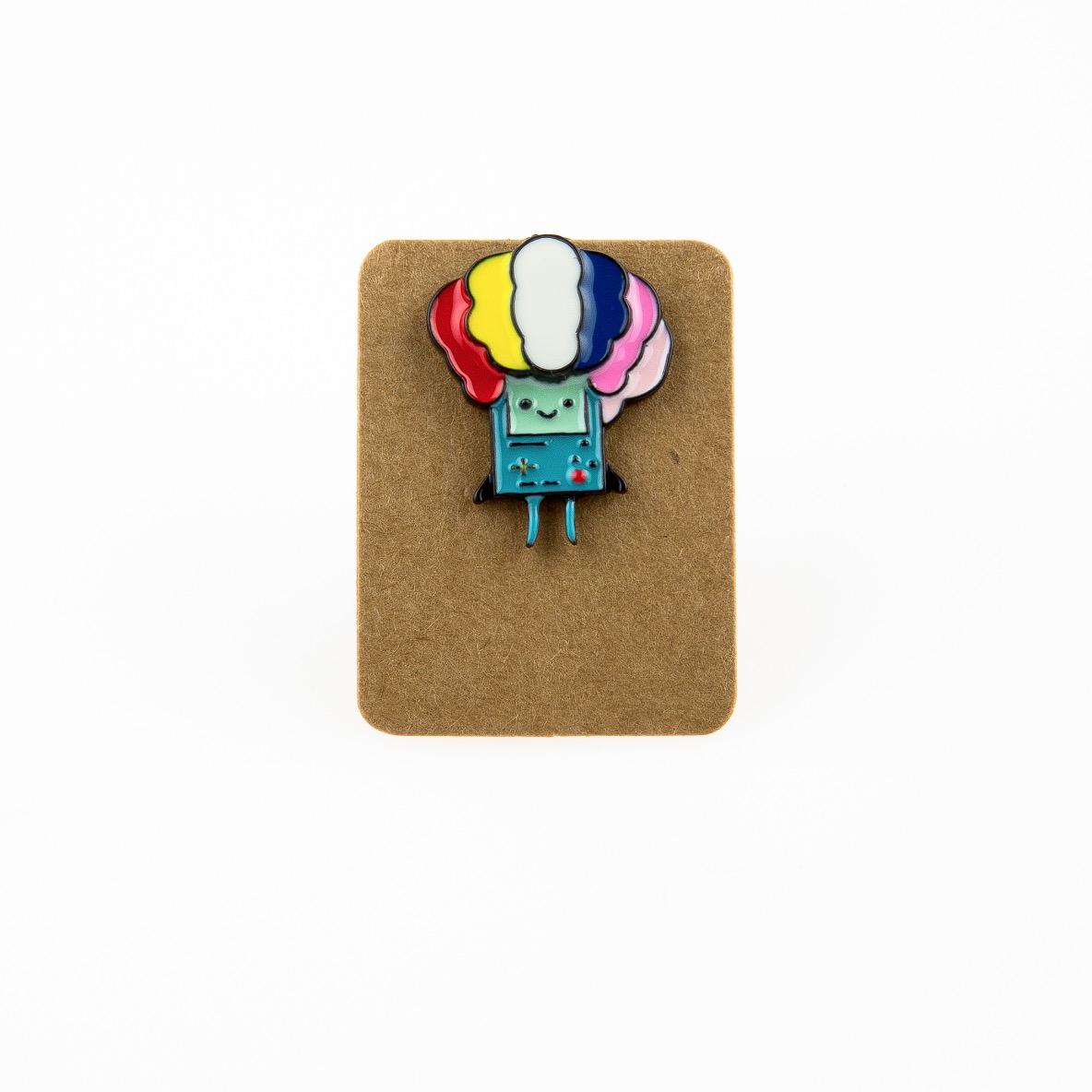 Metal Gameboy Ice Cream Head Enamel Pin Badge