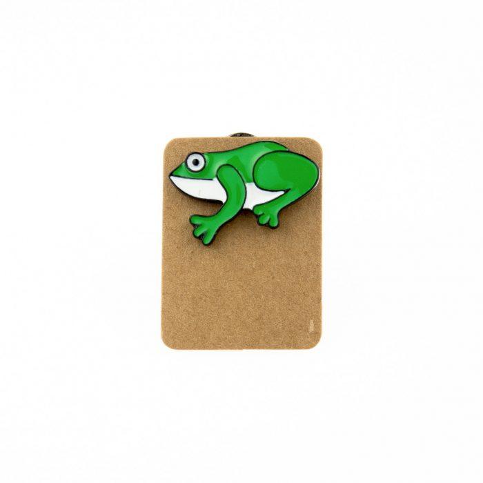 Metal Frog Enamel Pin Badge
