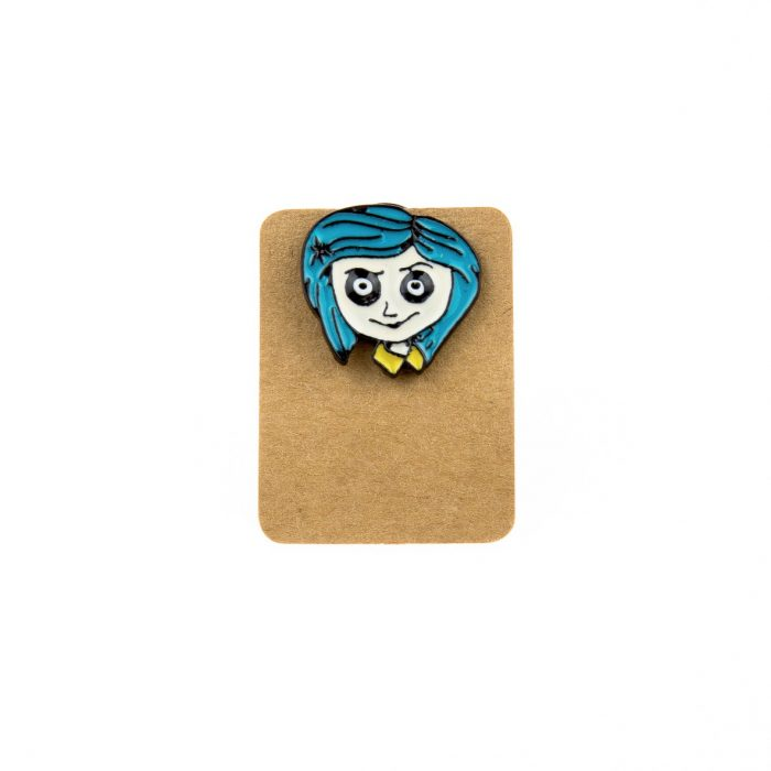 Metal Blue Hair Girl Enamel Pin Badge