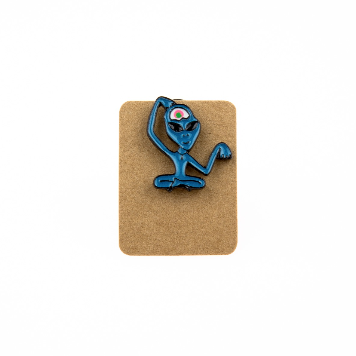 Metal Blue Alien Third Eye Enamel Pin Badge