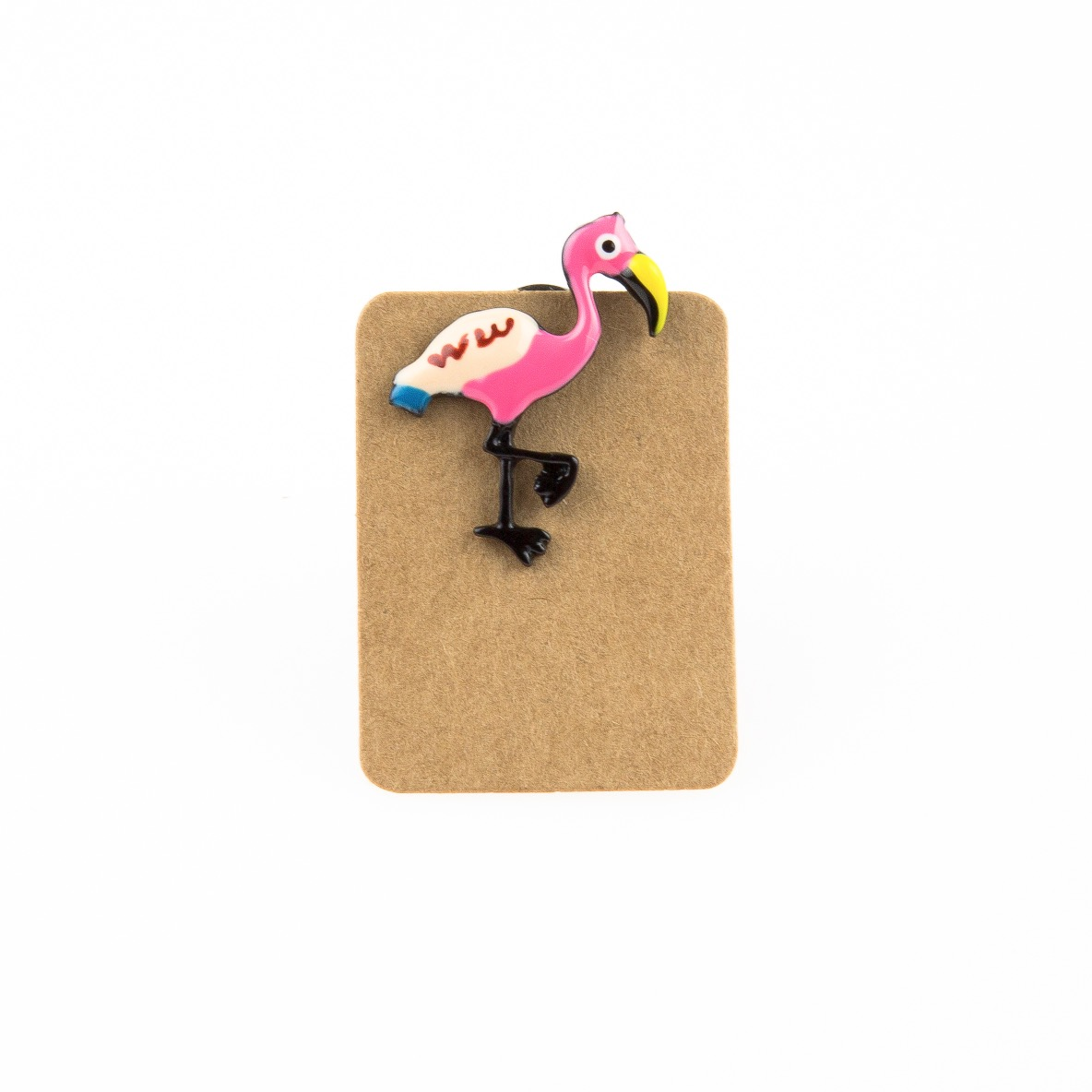 Metal Pink Flamingo Enamel Pin Badge