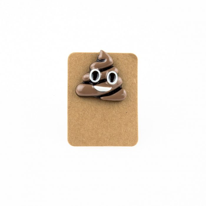 Metal Emoji Poo Poop Enamel Pin Badge