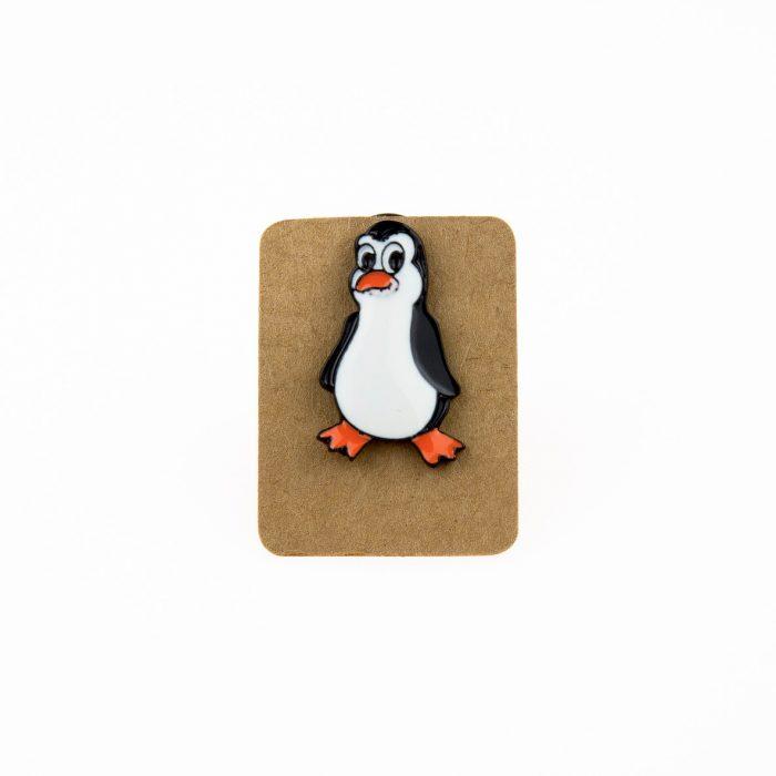 Metal Penguin Enamel Pin Badge