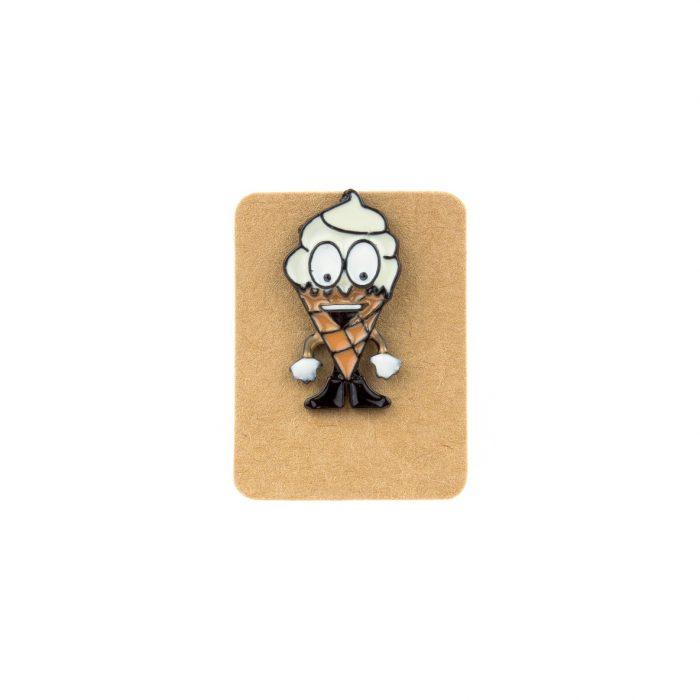 Metal Ice Cream Man Enamel Pin Badge