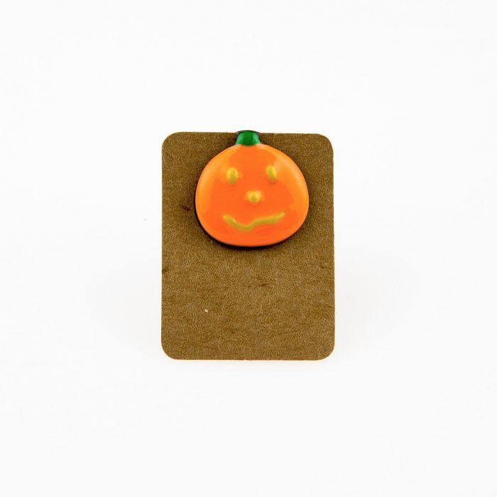 Metal Halloween Pumpkin Enamel Pin Badge