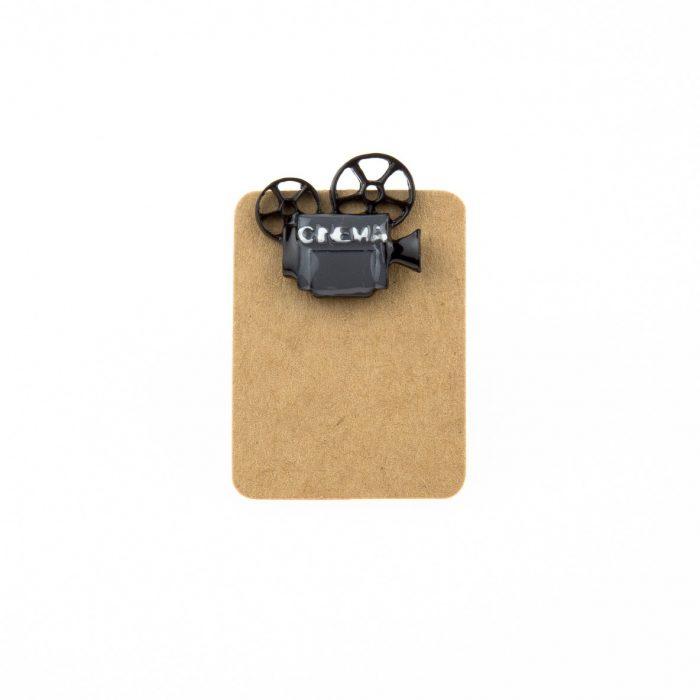 Metal Retro Cinema Machine Enamel Pin Badge