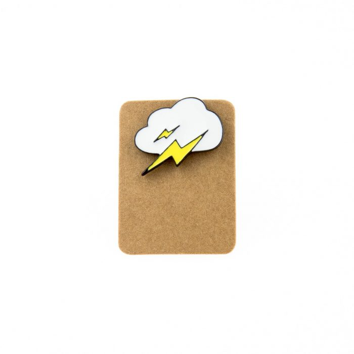 Metal Cloud Flash Enamel Pin Badge