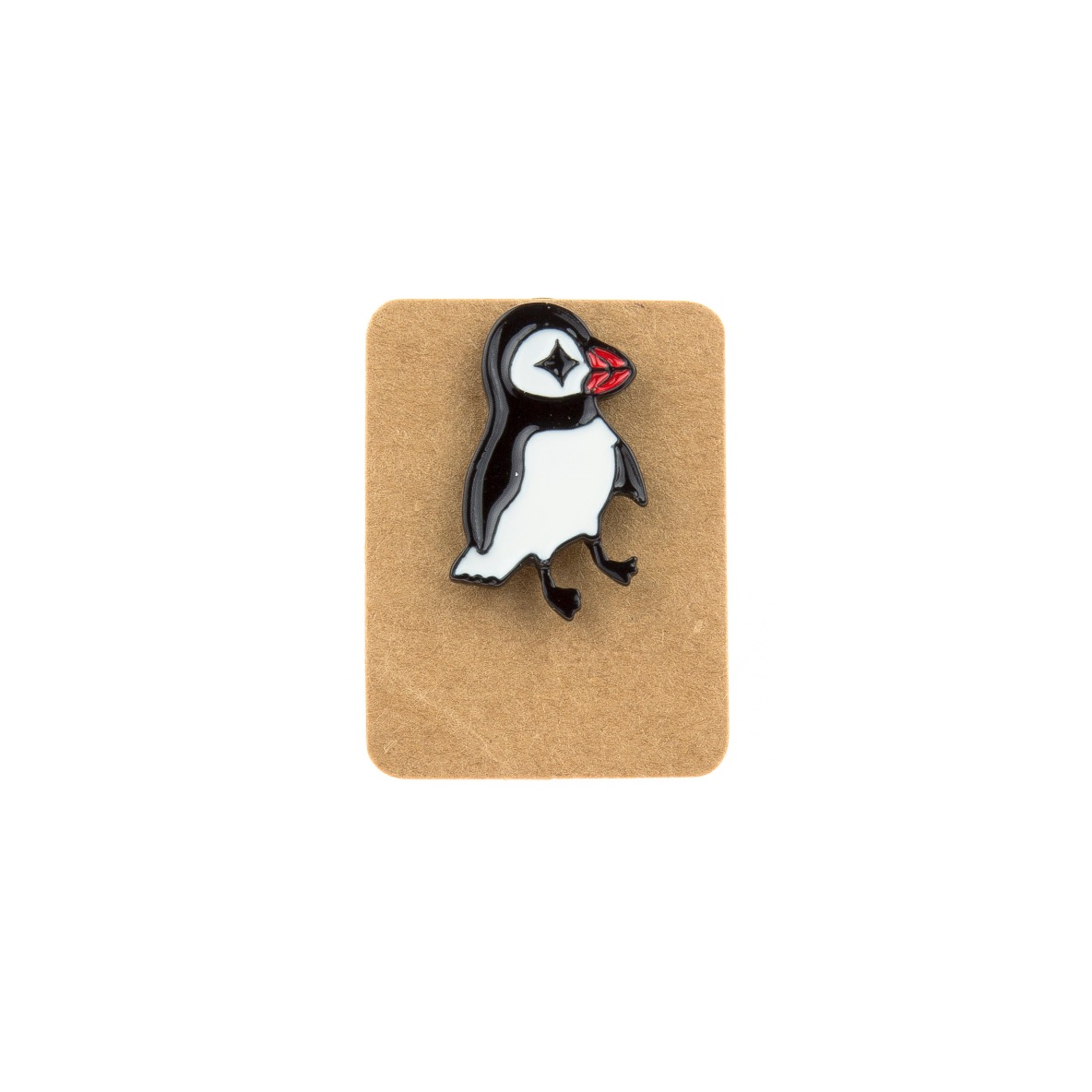 Metal Penguin Star Eye Enamel Pin Badge