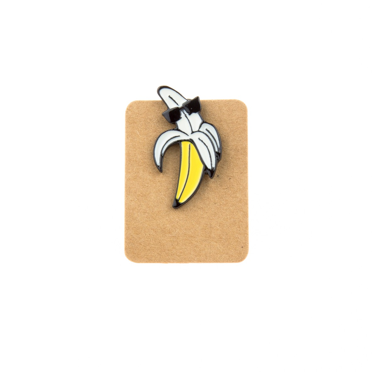 Metal Banana Sunglass Enamel Pin Badge
