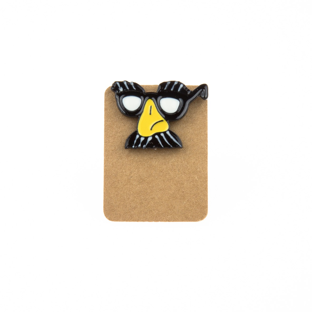 Metal Groucho Glass Mask Enamel Pin Badge