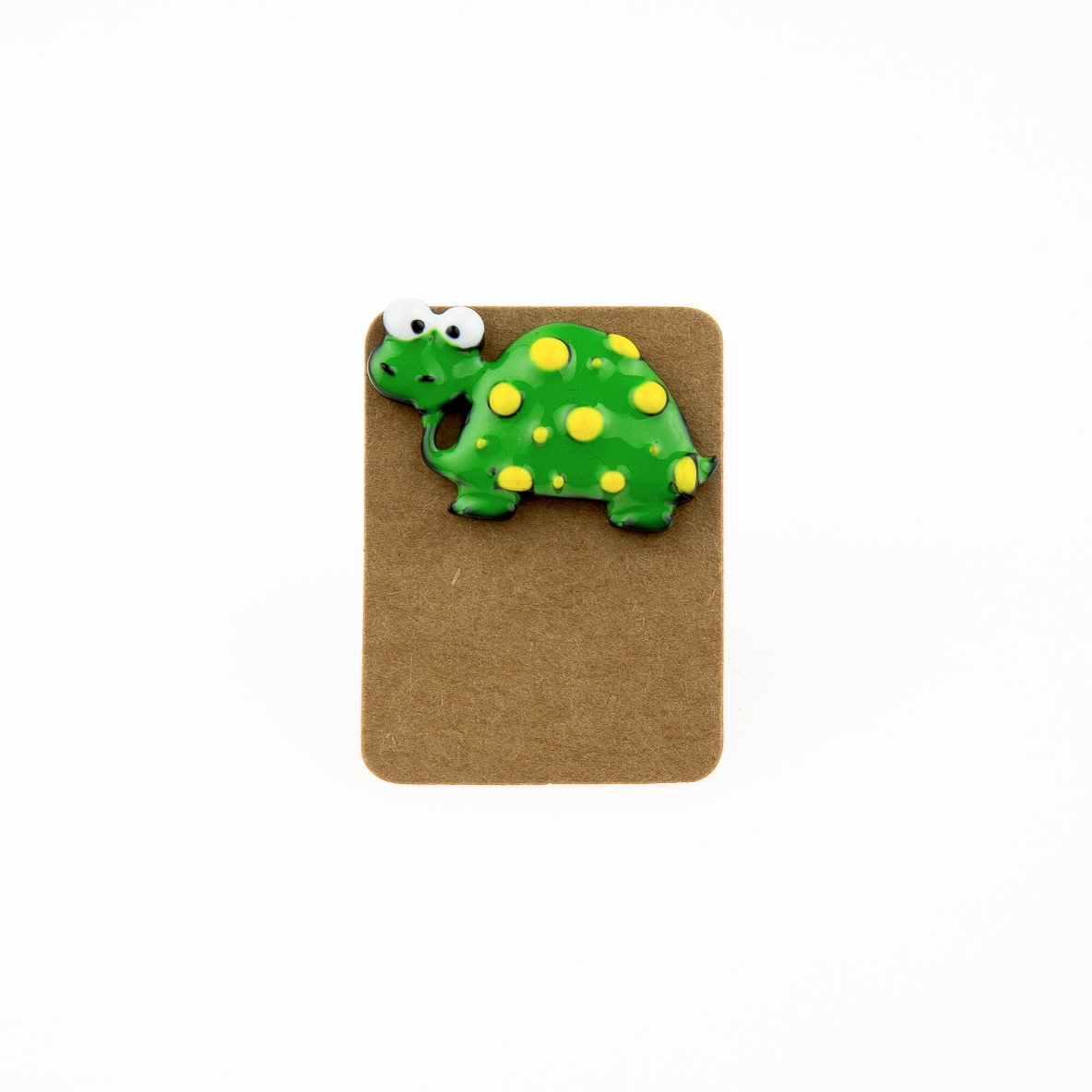 Metal Turtle Yellow Dot Enamel Pin Badge