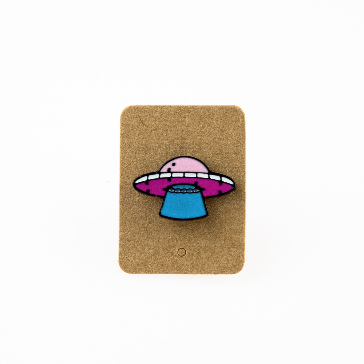 Metal Ufo Light Attack Enamel Pin Badge