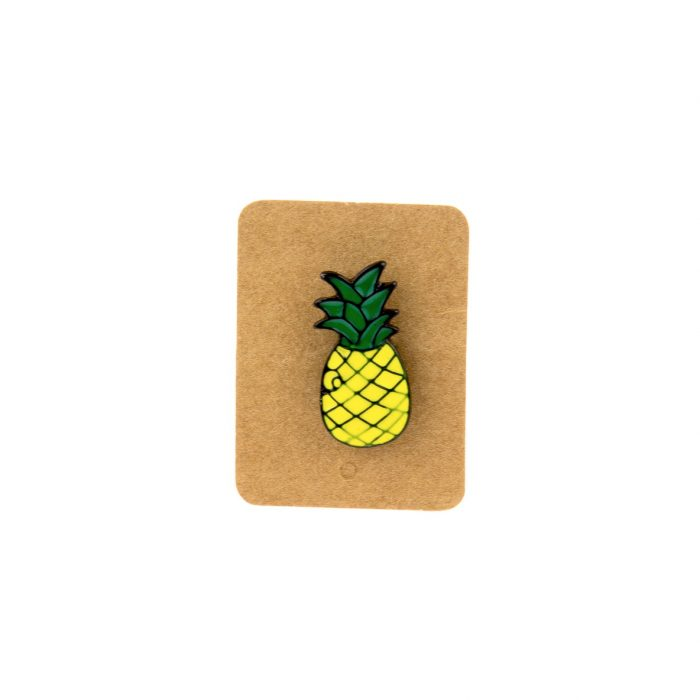 Metal Pineapple Enamel Pin Badge