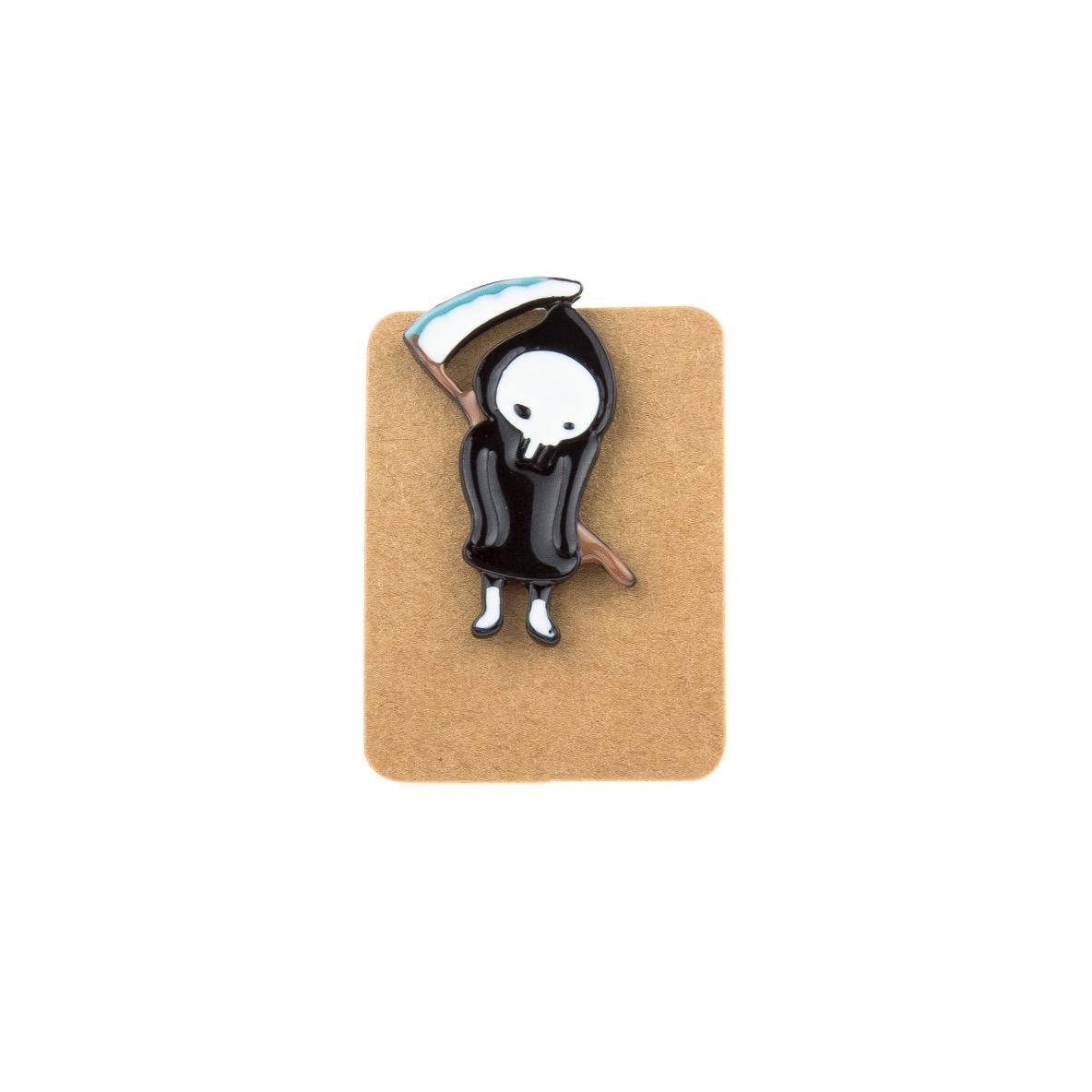 Metal Grim Reaper Enamel Pin Badge