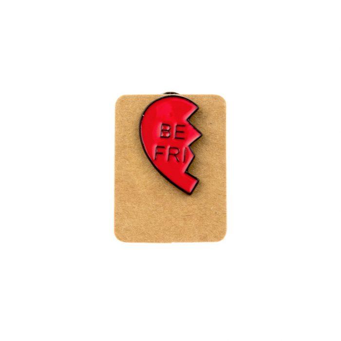 Metal Best Friend Heart Enamel Pin Badge