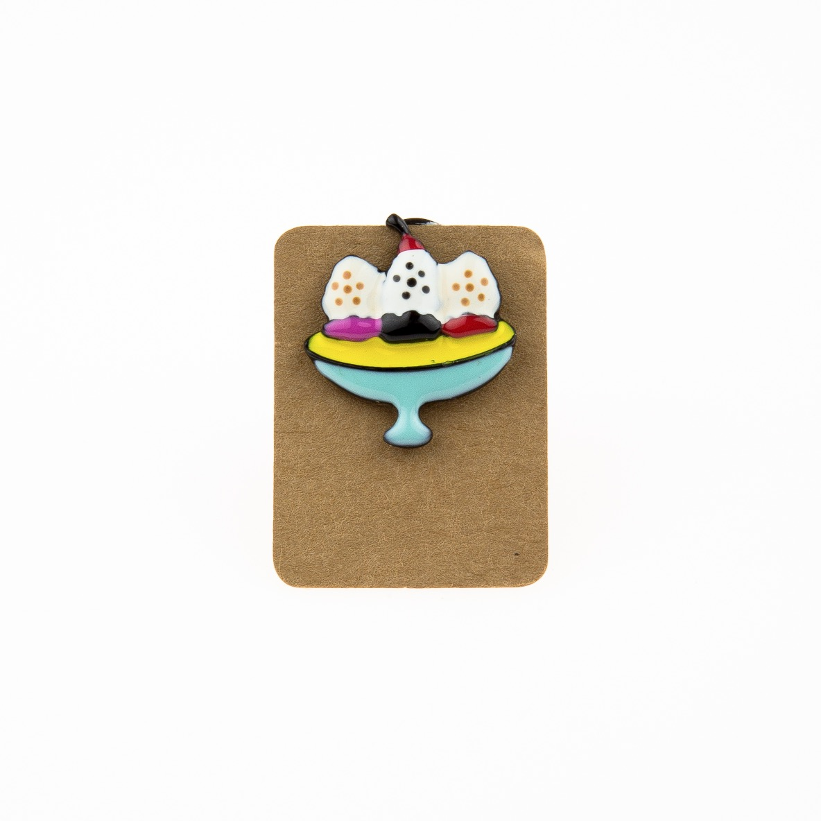 Metal Tea Time Cakes Enamel Pin Badge