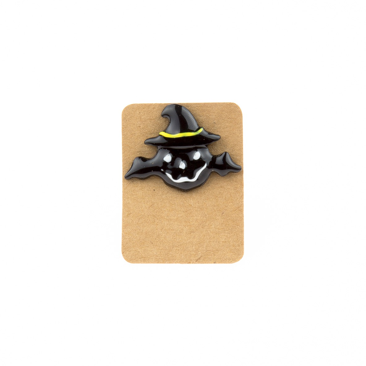 Metal Black Pumpkin Wizard Hat Enamel Pin Badge