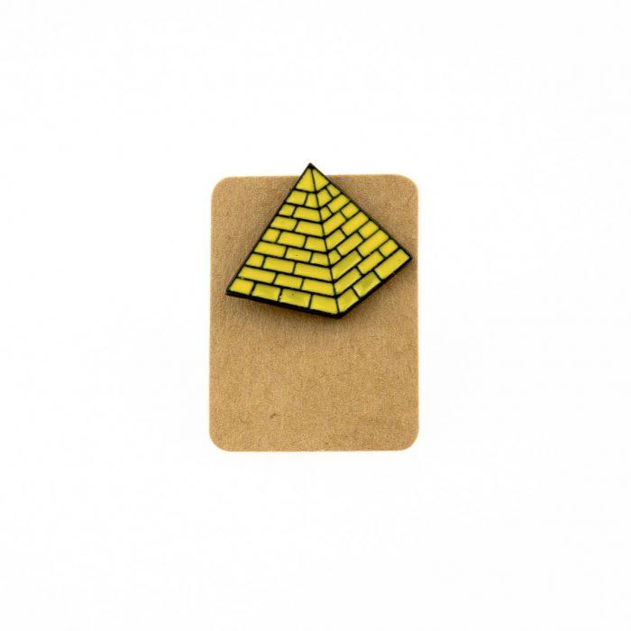 Metal Pyramid Enamel Pin Badge