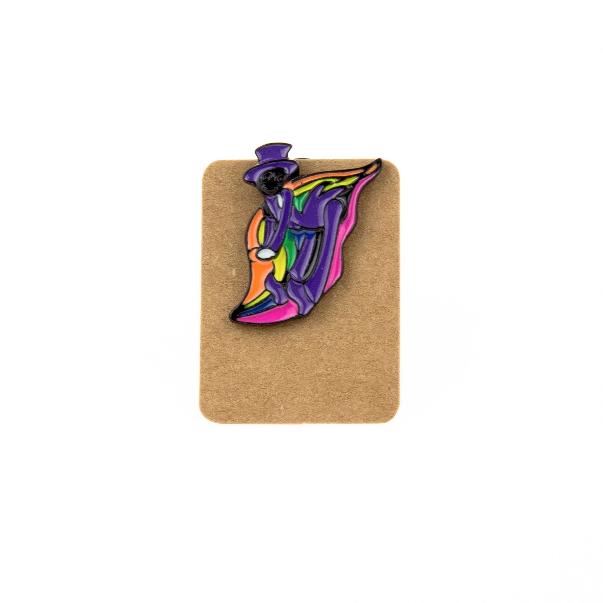 Metal Purple Joker Enamel Pin Badge