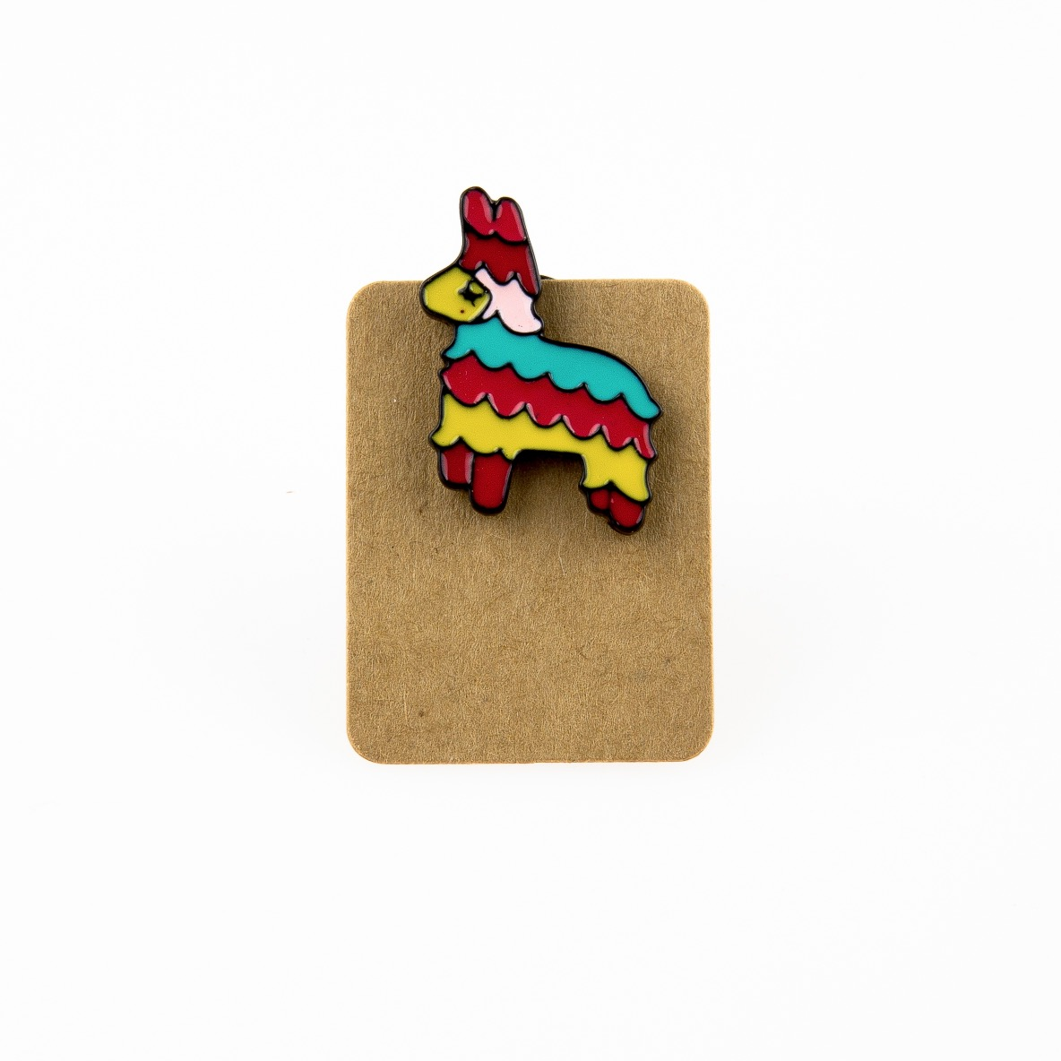 Metal Lama Multi Color Enamel Pin Badge