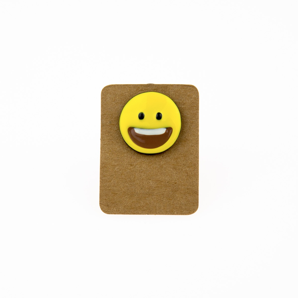 Metal Emoji Smiley Face Enamel Pin Badge