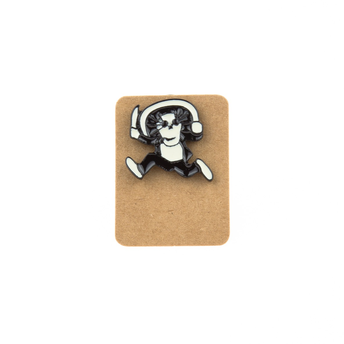 Metal Man with Knife Enamel Pin Badge