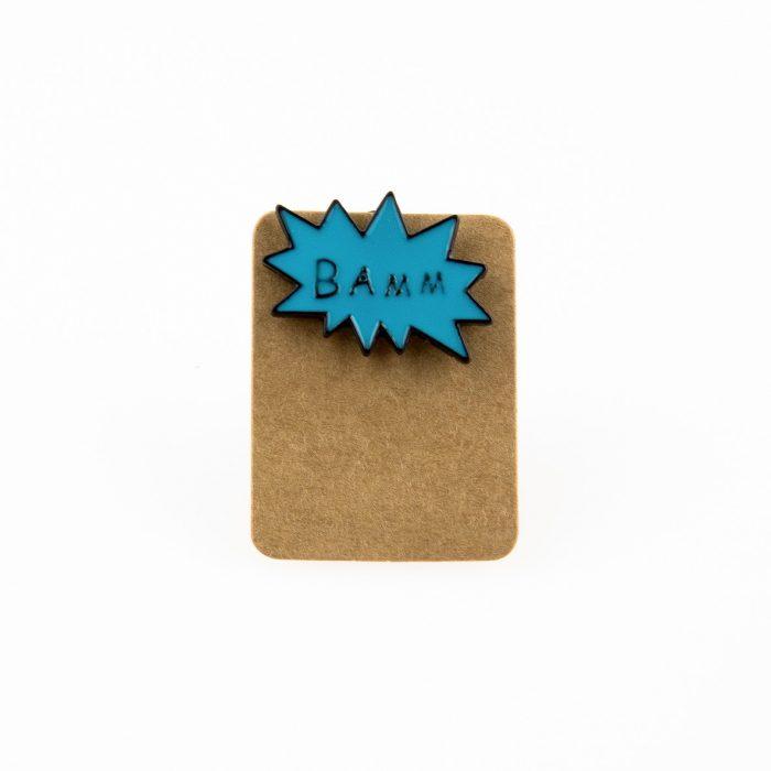Metal Speech Bubble Bamm Enamel Pin Badge