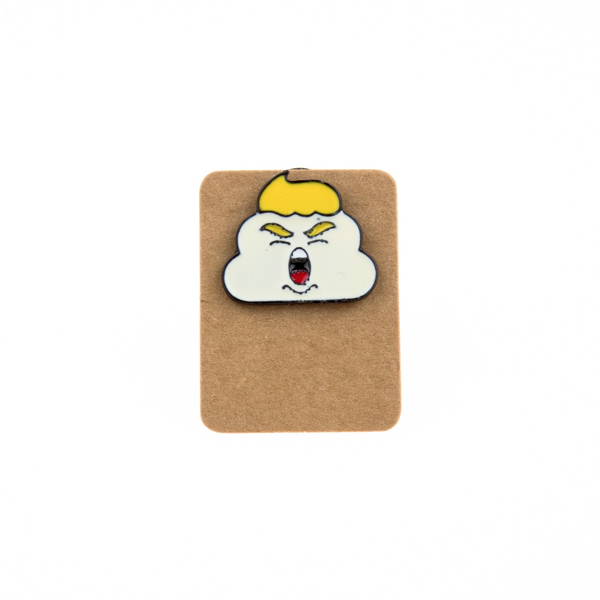 Metal Angry Trump Cloud Enamel Pin Badge