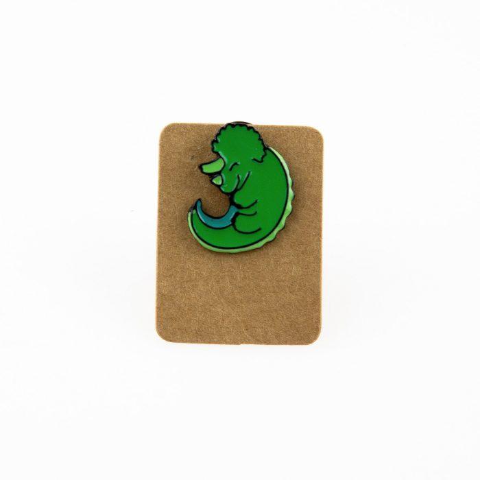 Metal Baby Triceratops Dino Enamel Pin Badge