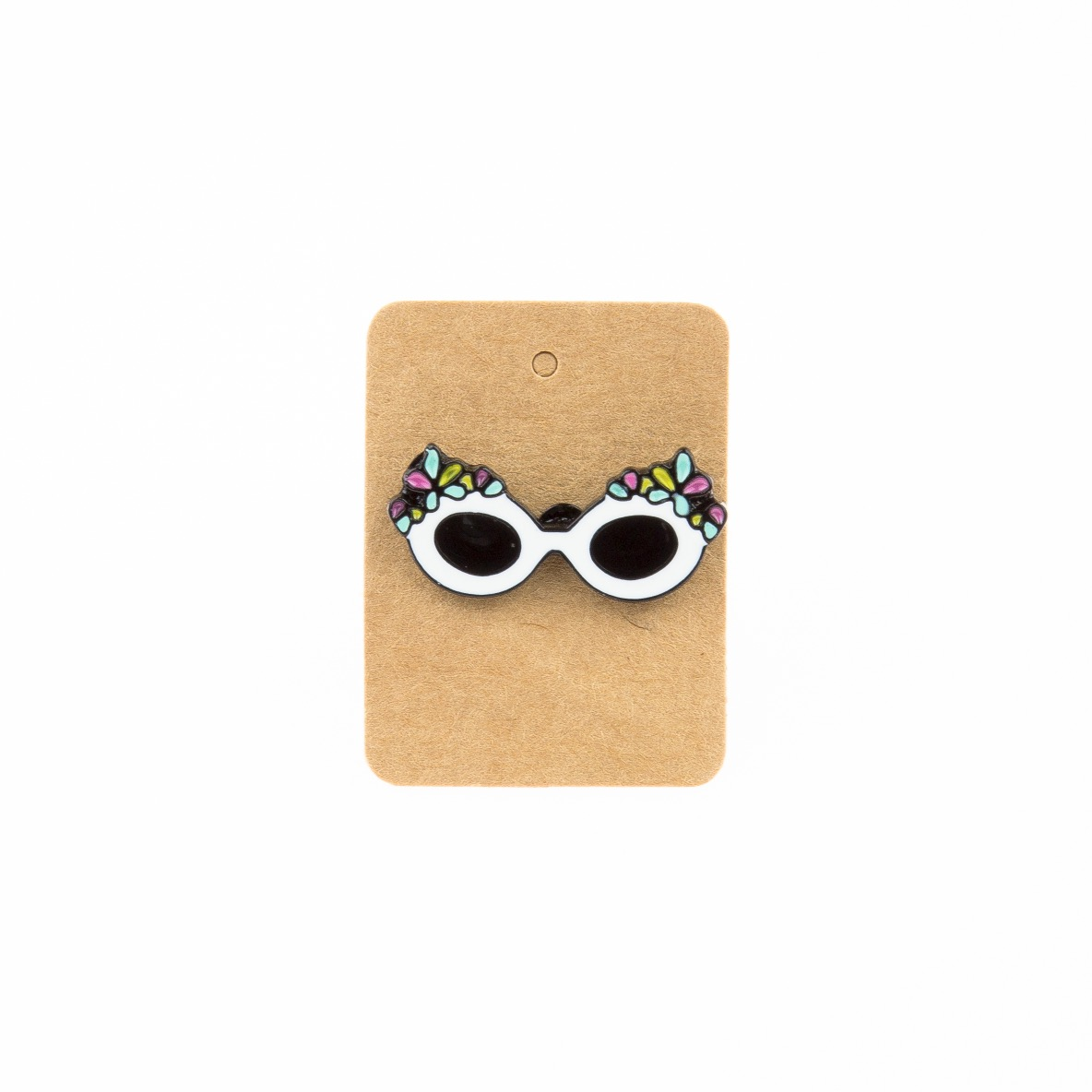 Metal Flowers Sunglass Enamel Pin Badge