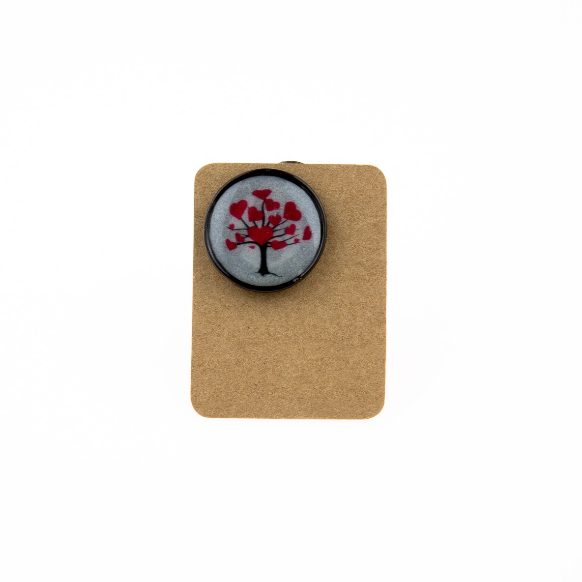 Metal Tree Heart Circle Enamel Pin Badge
